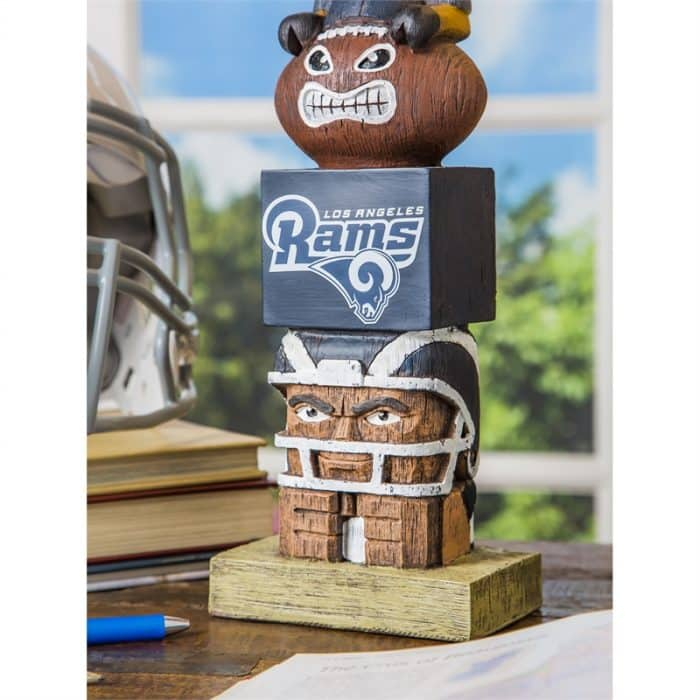 LA Rams - Tiki Totem Garden Statue - Close Up on Table