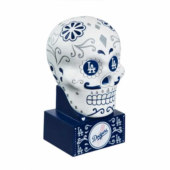Los Angeles Dodgers - Sugar Skull Head - Front