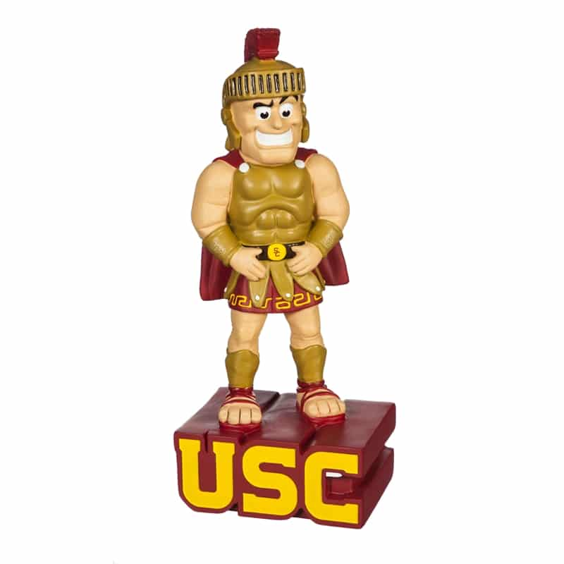 University of Southern California (USC) Mascot standing over USC