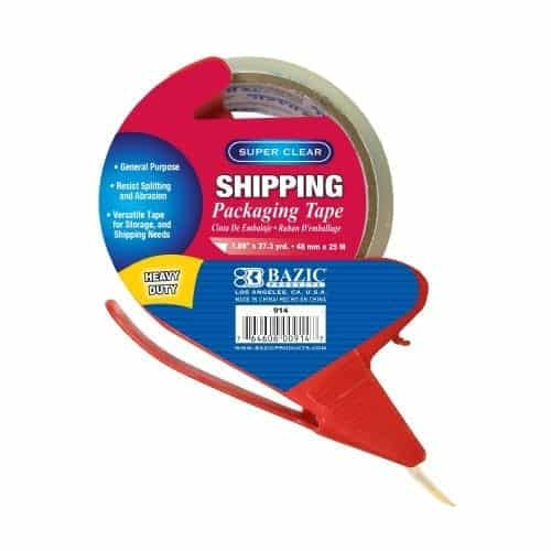 """1.88"""" x 27.3 Yards Super Clear Heavy Duty Packing Tape with Dispenser"""