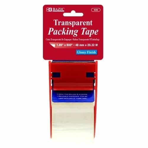 Small clear packing tape with dispenser