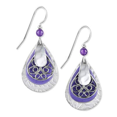 Silver Forest Earrings E-8061D Side-by-Side