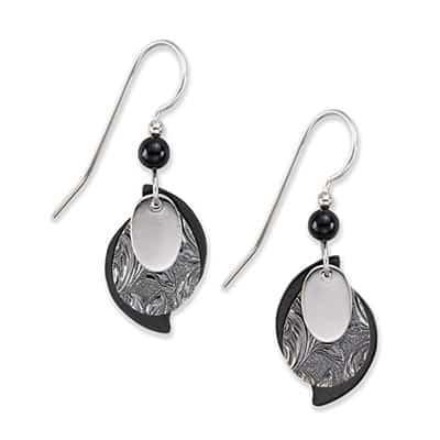 Silver Forest Earrings E-9392B Side-by-Side
