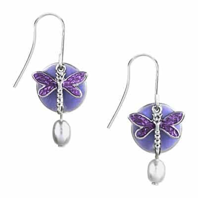 Silver forest earrings NE-0008A side-by-side