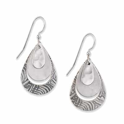 Silver forest earrings NE-0501 side-by-side