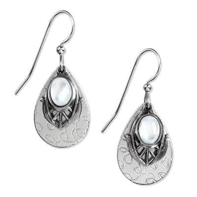 Silver forest earrings NE-1164 side-by-side