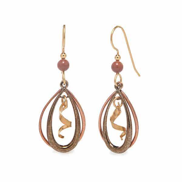 Silver forest earrings NE-1393 side-by-side