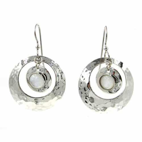 Silver forest earrings NE-1407 side-by-side