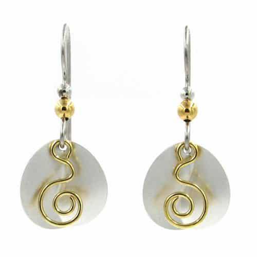 silver forest earrings ne-1455 side by side