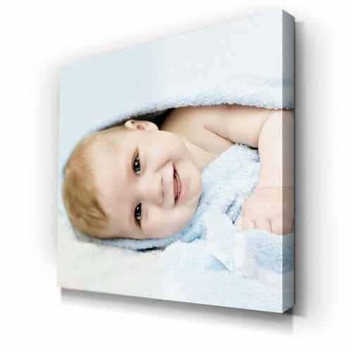 baby picture - custom canvas wrap