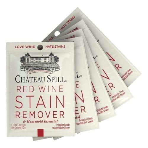 chateau spill red wine remover wipe